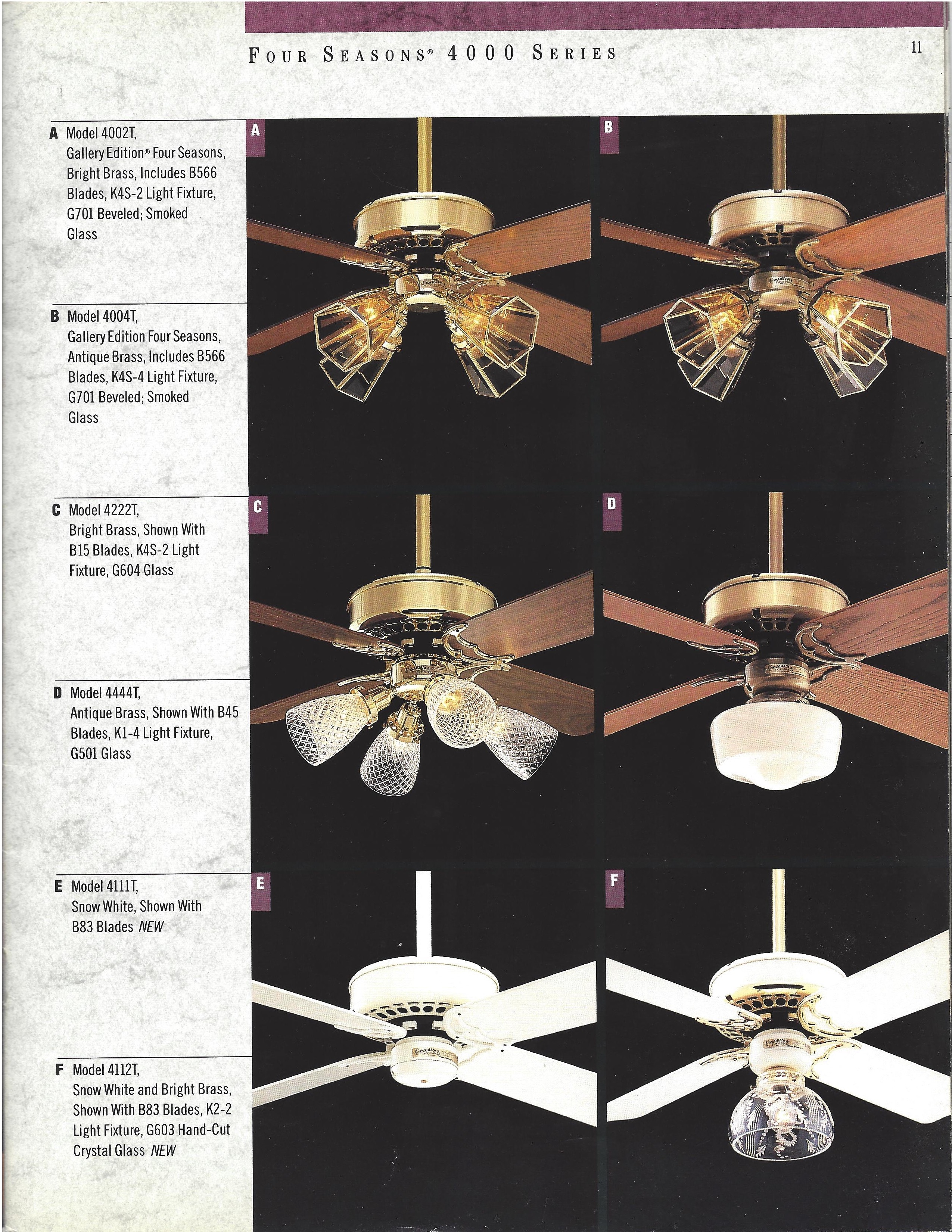 Casablanca Catalog 1988 Ceiling Fan Wiring Diagram