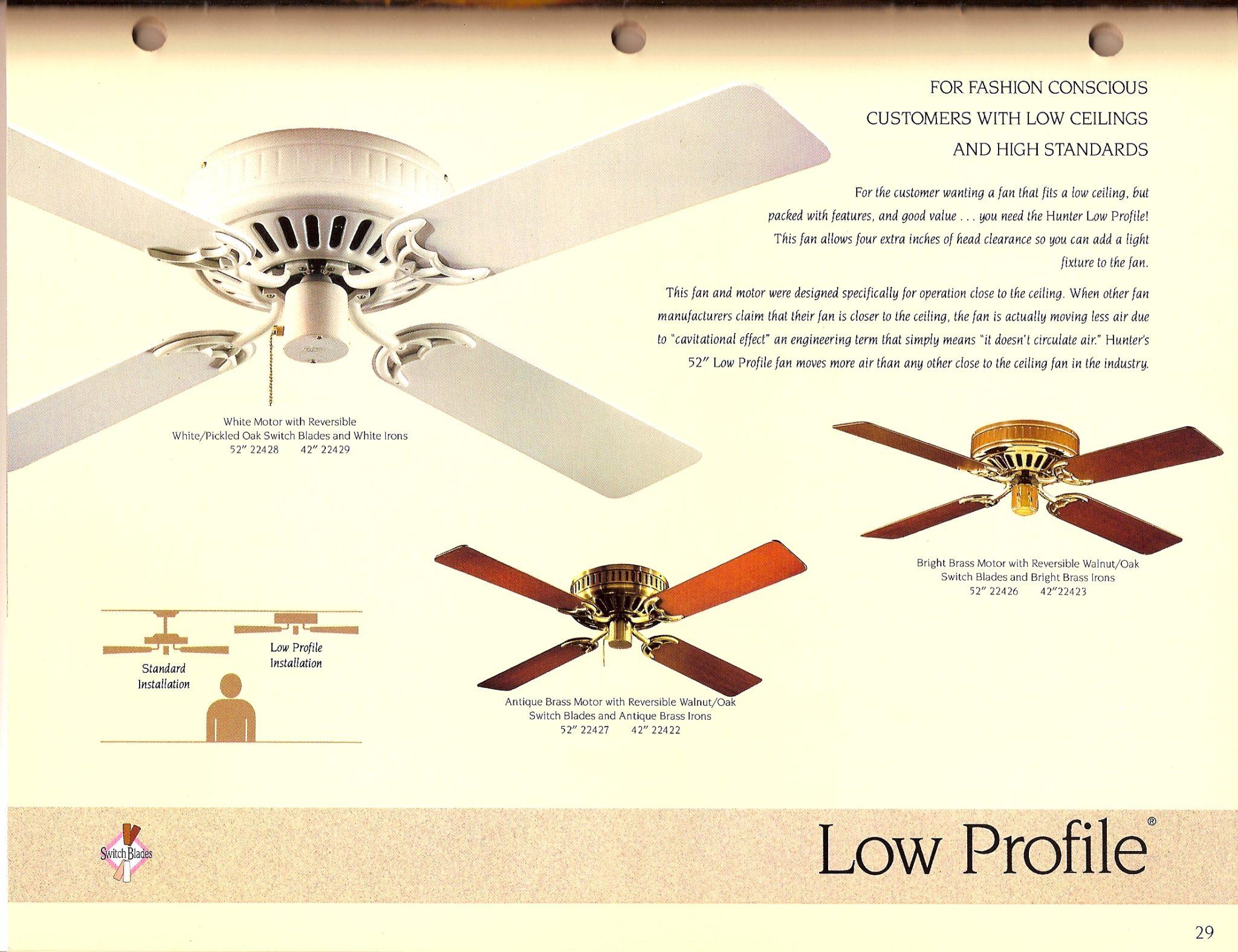 Hunter Catalog 1991 Wiring Diagram Ceiling Fan 25510 Hunter1991full29